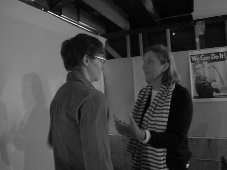 Poets Tiff Dressen & Hazel White, post reading